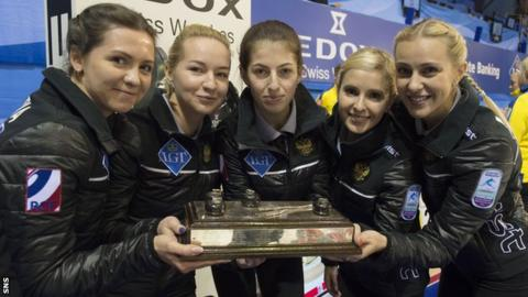 Victoria Moiseeva's Russian rink with their trophy