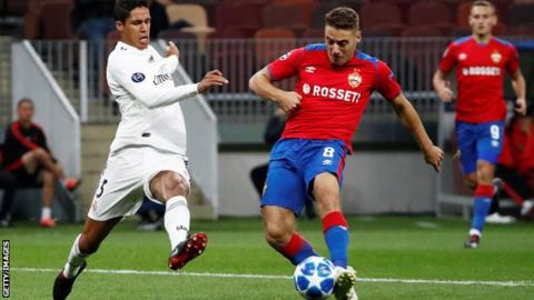 ca052f22e CSKA Moscow 1-0 Real Madrid  European champions beaten in Russia. By  Michael Emons. BBC Sport. 2 Oct  From the section European Football