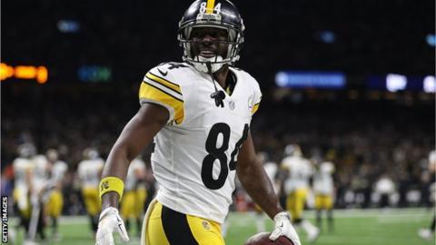 brand new e4128 d4f99 Antonio Brown: Oakland Raiders release wide receiver before ...