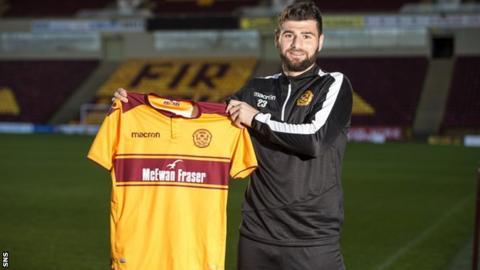 Motherwell striker Nadir Ciftci