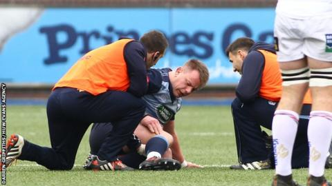 Matthew Rees down injured