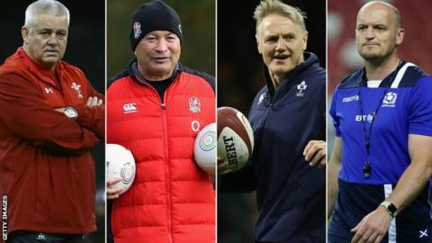 Warren Gatland, Eddie Jones., Joe Schmidt, Gregor Townsend