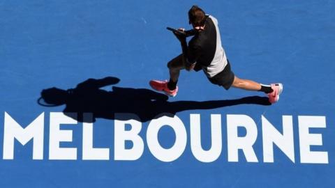 Juan Martin Del Potro in action at the Australian Open