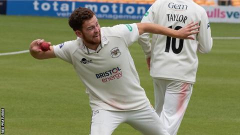 Gloucestershire bowler Ryan Higgins