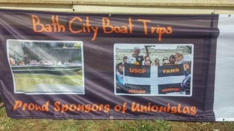 Banner promoting 'Bath City Boat Tours'