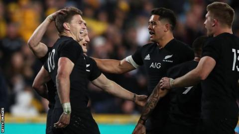 Naholo, Barrett shine as All Blacks beat Wallabies 38-13