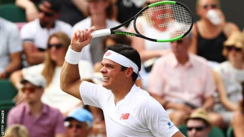 Canadian Milos Raonic rolls into third round at Wimbledon