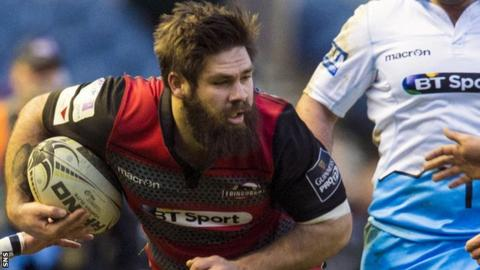 Edinburgh number eight Cornell Du Preez
