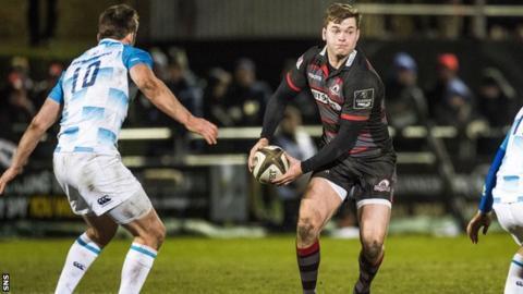 Edinburgh centre Chris Dean against Leinster