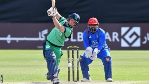 Ireland's William Porterfield batting against Afghanistan