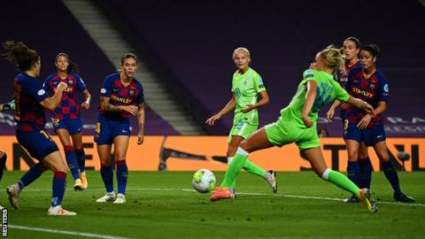 Wolfsburg secures women's Champions League final berth on Rolfo's 2nd-half goal