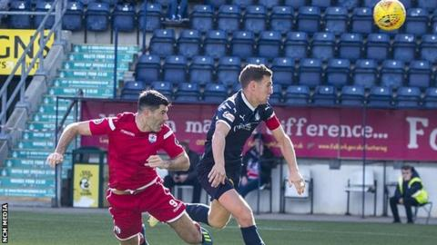 Michael Wilde scores against Falkirk