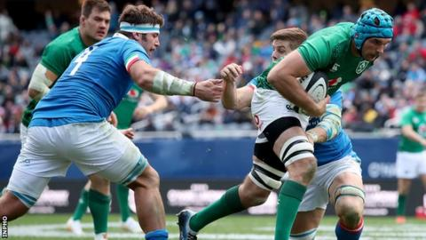 Tadhg Beirne scored a try in Ireland's demolition of Italy at the start of November