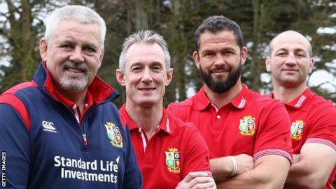 Warren Gatland, Rob Howley, Andy Farrell and Steve Borthwick