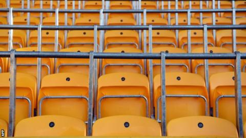 Rail seats at Wolves' Molineux ground