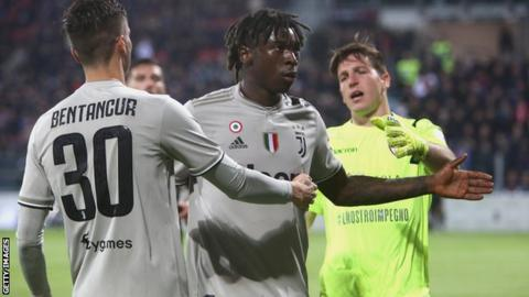 Moise Kean: Serie A opts not to sanction Cagliari for racist abuse