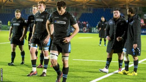 Glasgow lost 14-12 at home to Munster