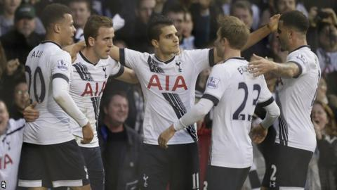 Harry Kane celebrates his second goal
