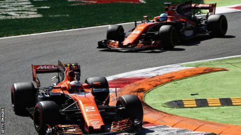 Alonso and Vandoorne of McLaren