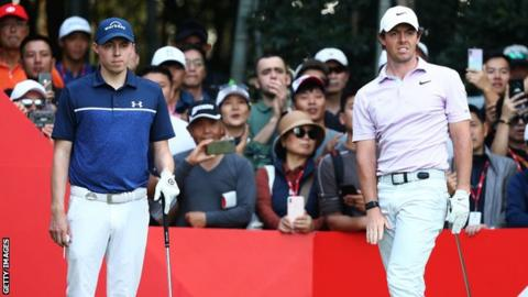 Matthew Fitzpatrick (left) and Rory McIlroy (right)