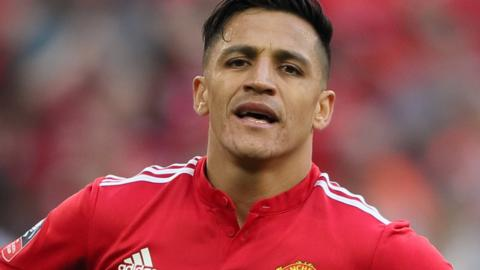 Manchester United striker Alexis Sanchez