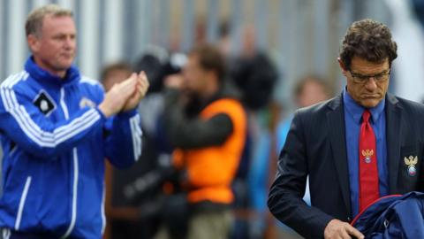 O'Neill's first win as NI manager was a 1-0 home win over Fabio Capello's Russia