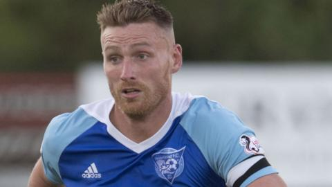 Rory McAllister was once again on target for Peterhead