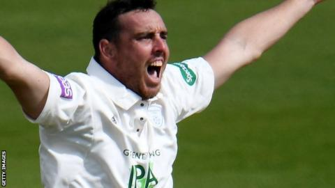 Hampshire bowler Kyle Abbott