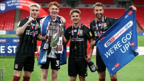 Northampton's goalscorers in the 2020 League Two play-off final