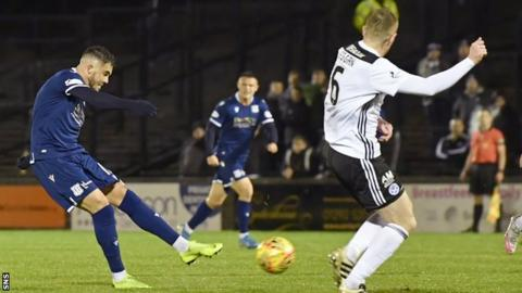 Dundee's Declan McDaid netted the opener against his former club