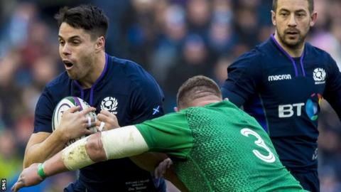Sean Maitland in action for Scotland