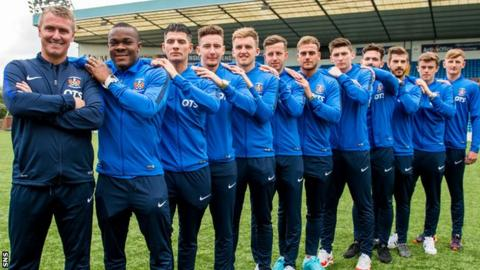 Lee Clark with his Kilmarnock signings