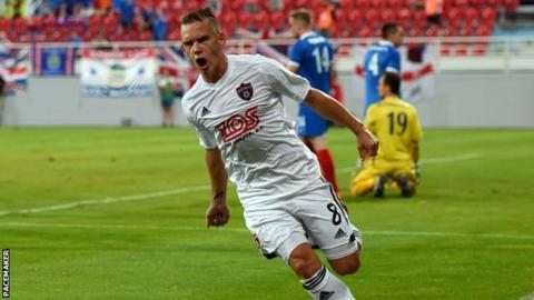 Slovakian side Spartak Trnava will take a one-goal lead into the second leg