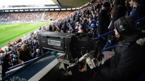 Cameras at a Premier League match