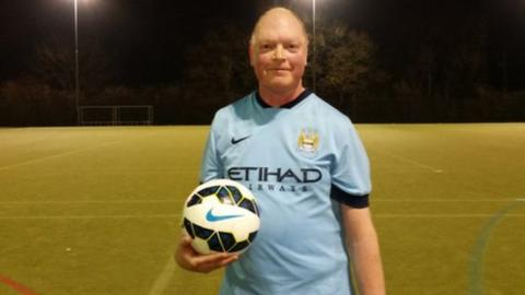 Paul in his football kit