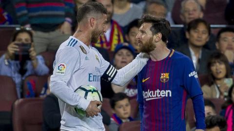 Sergio Ramos and Messi