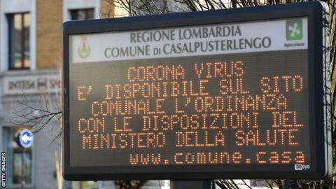 Coronavirus: 10 victims in Italy - English