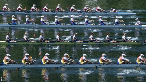The women's eight finalists in Lucerne