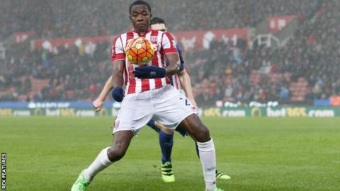 Stoke City midfielder Giannelli Imbula