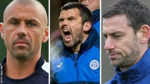 Kevin Phillips (left), Callum Davidson and Rory Delap have all worked with Gary Rowett before