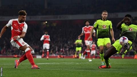 Oxlade-Chamberlain also scored against Nottingham Forest in the previous round of this competition