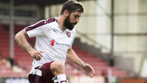 Juanma in action for Hearts