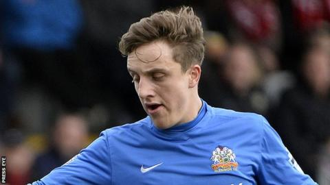 Joel Cooper recently returned from the United States to play for Glenavon