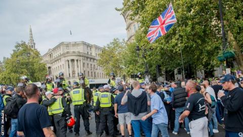 DFLA march in London