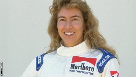 Giovanna Amati poses in 1992 during her time as a Brabham Judd driver