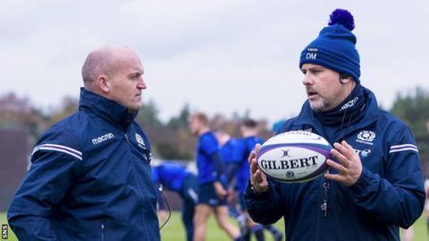 Scotland coaches Gregor Townsend and Dan McFarland