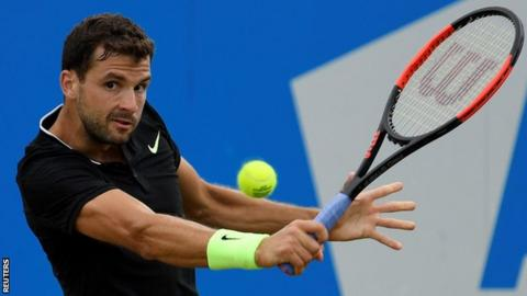 Grigor Dimitrov through to Queen's semi-finals
