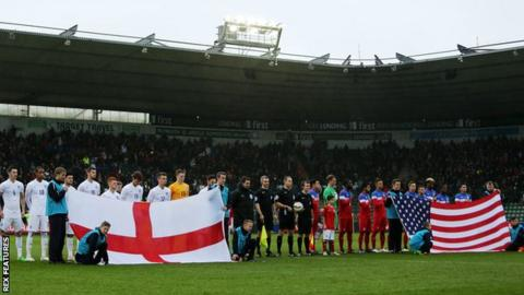 Plymouth hosted an Under 20's international between England and the USA in March 2015