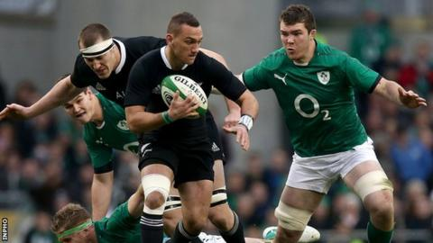 Action from Ireland's Test against New Zealand in Dublin in November 2013