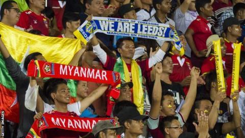 Myanmar fans watch Leeds United friendly